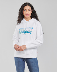 material Women sweaters Levi's GRAPHIC STANDARD HOODIE White