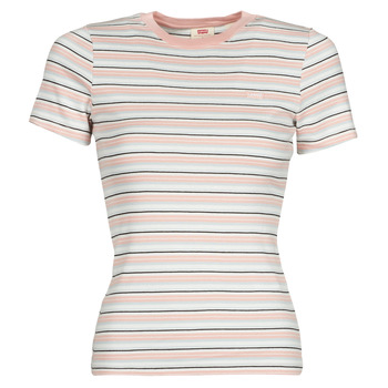 material Women short-sleeved t-shirts Levi's SS RIB BABY TEE Multicolour
