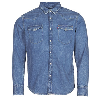 material Men long-sleeved shirts Levi's BARSTOW WESTERN STANDARD Blue