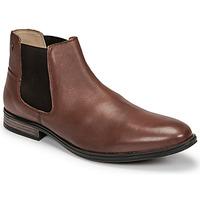 Shoes Men Mid boots Jack & Jones JFW FRANK LEATHER Cognac
