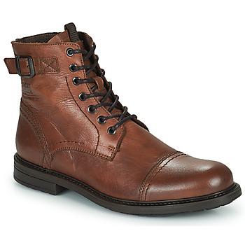 Shoes Men Mid boots Jack & Jones JFW SHELBY LEATHER Cognac