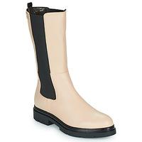 Shoes Women Mid boots Les Tropéziennes par M Belarbi SADDIE Beige / Black