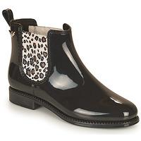 Shoes Women Wellington boots Les Petites Bombes RAIN Black / Leopard