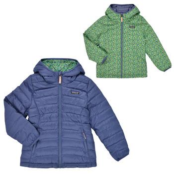 material Girl Duffel coats Patagonia REVERSIBLE DOWN SWEATER HOODY Blue