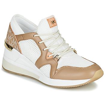 Shoes Women Low top trainers MICHAEL Michael Kors LIV Camel / White