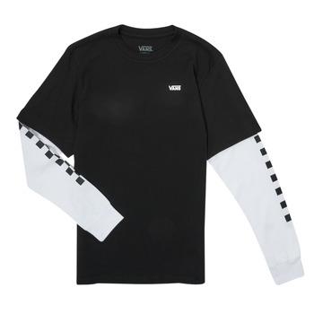 material Boy Long sleeved shirts Vans LONG CHECK TWOFER Black