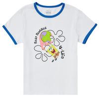 material Girl short-sleeved t-shirts Vans VANS X SPONGEBOB BEST BUDDIES RINGER White