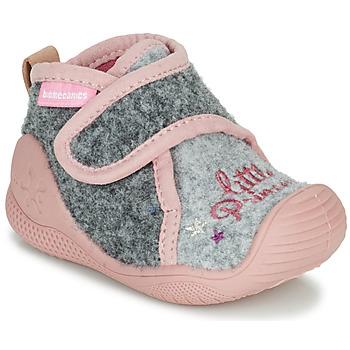 Shoes Girl Slippers Biomecanics BIOHOME Grey / Pink