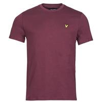 material Men short-sleeved t-shirts Lyle & Scott ROBINA Bordeaux