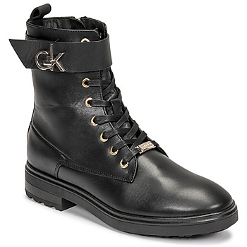 Shoes Women Ankle boots Calvin Klein Jeans CLEAT BIKER BOOT Black