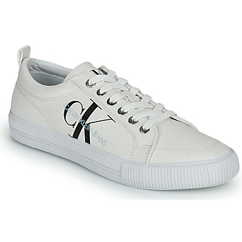 Shoes Women Low top trainers Calvin Klein Jeans VULCANIZED LACEUP SNEAKER White