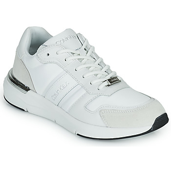 Shoes Women Low top trainers Calvin Klein Jeans FLEXRUNNER MIXED MATERIALS White / Silver
