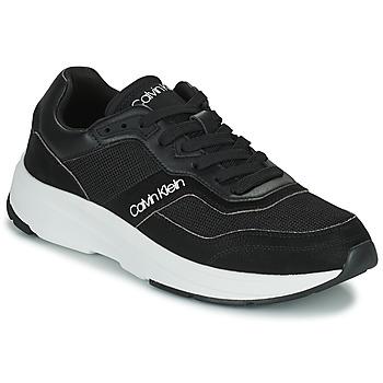 Shoes Men Low top trainers Calvin Klein Jeans LOW TOP LACE UP MIX Black