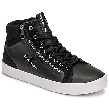 Shoes Men High top trainers Calvin Klein Jeans VULCANIZED MID LACEUP Black