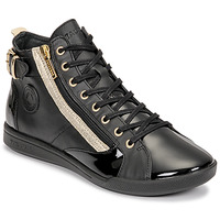 Shoes Women High top trainers Pataugas PALME Black / Gold