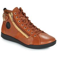 Shoes Women High top trainers Pataugas PALME Camel / Bronze