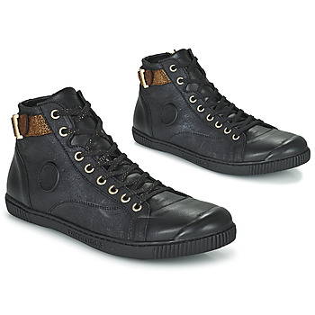 Shoes Women High top trainers Pataugas LATSA Black / Gold
