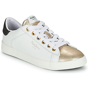 Shoes Women Low top trainers Pepe jeans KIOTO SELLY White / Gold