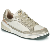 Shoes Women Low top trainers Pepe jeans MARBLE GLAM White / Gold