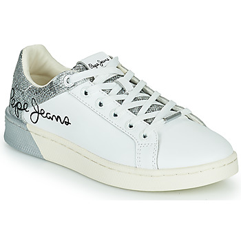 Shoes Women Low top trainers Pepe jeans MILTON WIN White / Silver