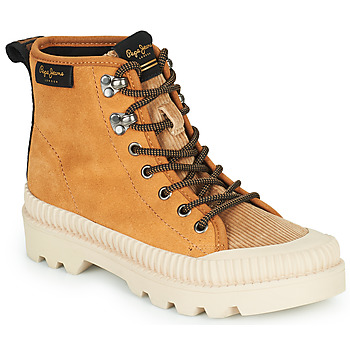 Shoes Women High top trainers Pepe jeans ASCOT DESERT Camel