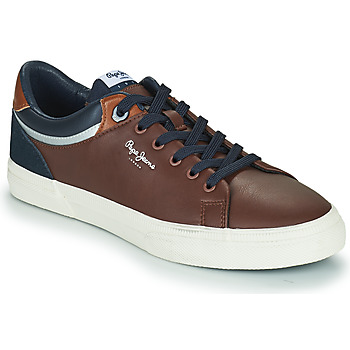 Shoes Men Low top trainers Pepe jeans KENTON CLASS Brown