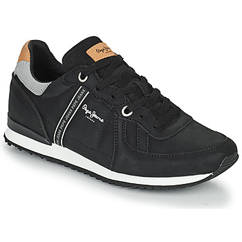Shoes Men Low top trainers Pepe jeans TINKER ROAD Black