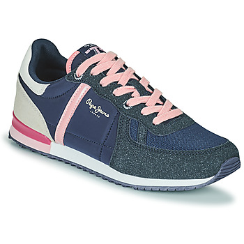 Shoes Girl Low top trainers Pepe jeans SYDNEY COMBI GIRL Marine / Pink