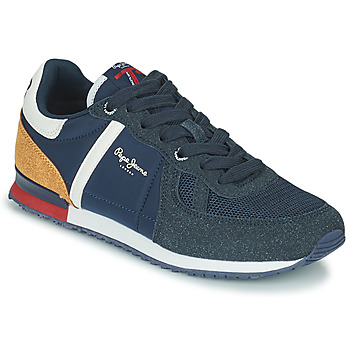Shoes Boy Low top trainers Pepe jeans SYDNEY COMBI BOY Marine / Brown
