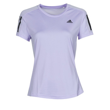 material Women short-sleeved t-shirts adidas Performance OWN THE RUN TEE Tone / Violet