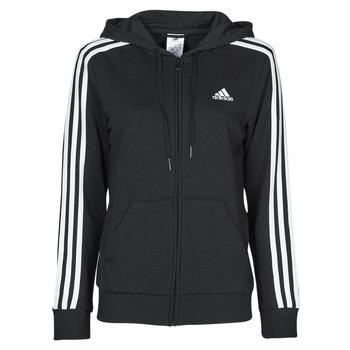 material Women sweaters adidas Performance W 3S FT FZ HD Black