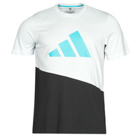 material Men short-sleeved t-shirts adidas Performance FUTURE BLK TEE White / Crystal