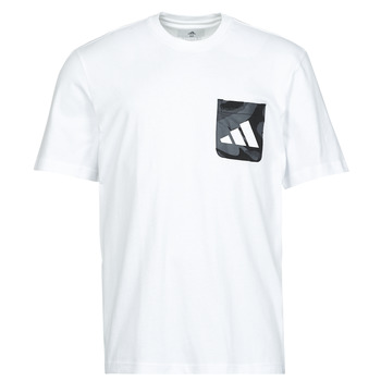 material Men short-sleeved t-shirts adidas Performance CAMO PKT TEE White