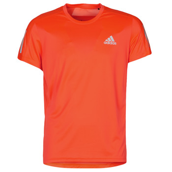 material Men short-sleeved t-shirts adidas Performance OWN THE RUN TEE App / Solar / Red