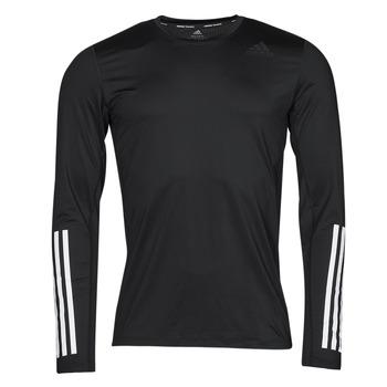 material Men Long sleeved shirts adidas Performance TF LS FT 3S Black
