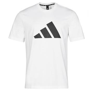 material Men short-sleeved t-shirts adidas Performance M FI 3B TEE White