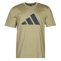material Men short-sleeved t-shirts adidas Performance M FI 3B TEE Green / Orbit