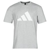material Men short-sleeved t-shirts adidas Performance M FI 3B TEE Grey / Medium