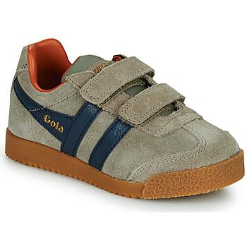 Shoes Children Low top trainers Gola HARRIER STRAP Beige / Blue
