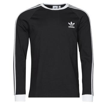 material Men Long sleeved shirts adidas Originals 3-STRIPES LS T Black