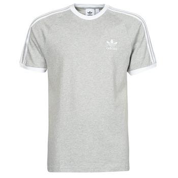 material Men short-sleeved t-shirts adidas Originals 3-STRIPES TEE Grey / Medium