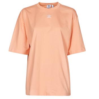 material Women short-sleeved t-shirts adidas Originals TEE Blush / Ambient