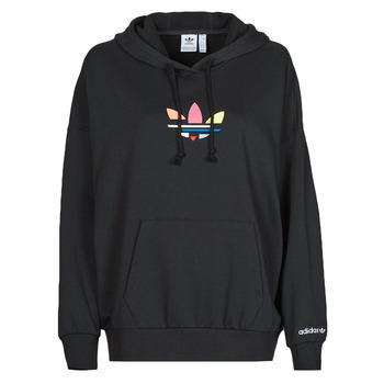 material Women sweaters adidas Originals HOODIE Black