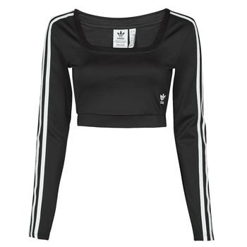 material Women Long sleeved shirts adidas Originals LONG SLEEVE Black