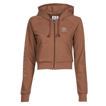 material Women sweaters adidas Originals CROPPED TT Brown