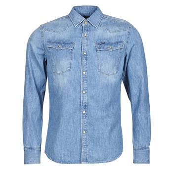 material Men long-sleeved shirts G-Star Raw 3301 SLIM SHIRT LS Blue