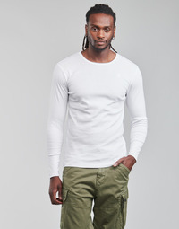 material Men Long sleeved shirts G-Star Raw BASE R T LS 1-PACK White
