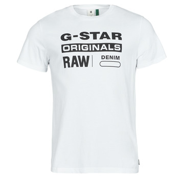 material Men short-sleeved t-shirts G-Star Raw GRAPHIC 8 R T SS White