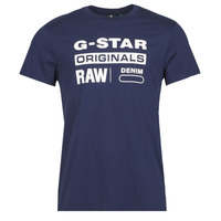 material Men short-sleeved t-shirts G-Star Raw GRAPHIC 8 R T SS Blue