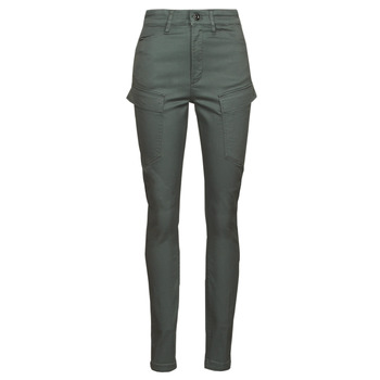 material Women Cargo trousers  G-Star Raw HIGH G-SHAPE CARGO SKINNY PANT WMN Grey